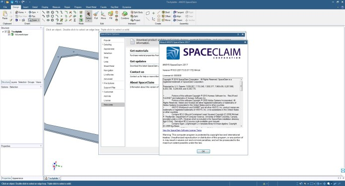 Work with ANSYS SpaceClaim DesignSpark Mechanical 2017 SP0 Win64