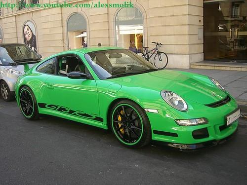 Green Porsche 997 GT3RS