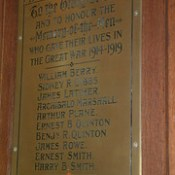 St Martin at Palace, Norwich - In memory of the Men who gave their lives in the Great War 1914-1919