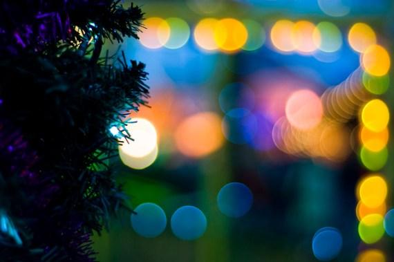 holiday lights bokeh