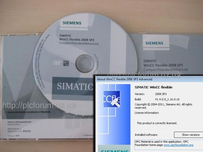 Siemens SIMATIC WinCC Flexible 2008 SP3