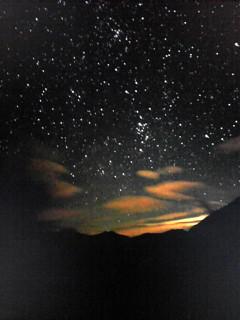 ペルセウス座流星群を北アルプス涸沢から見たらこんなだったらしい