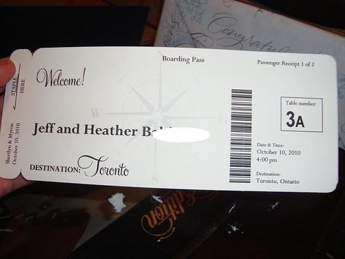 Boarding Pass Escort Card