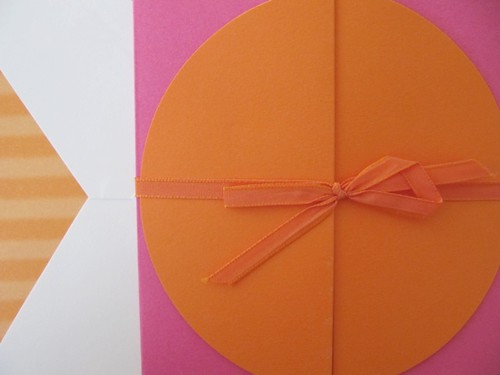 Folded Announcement for Girl in Orange/Pink from William Arthur