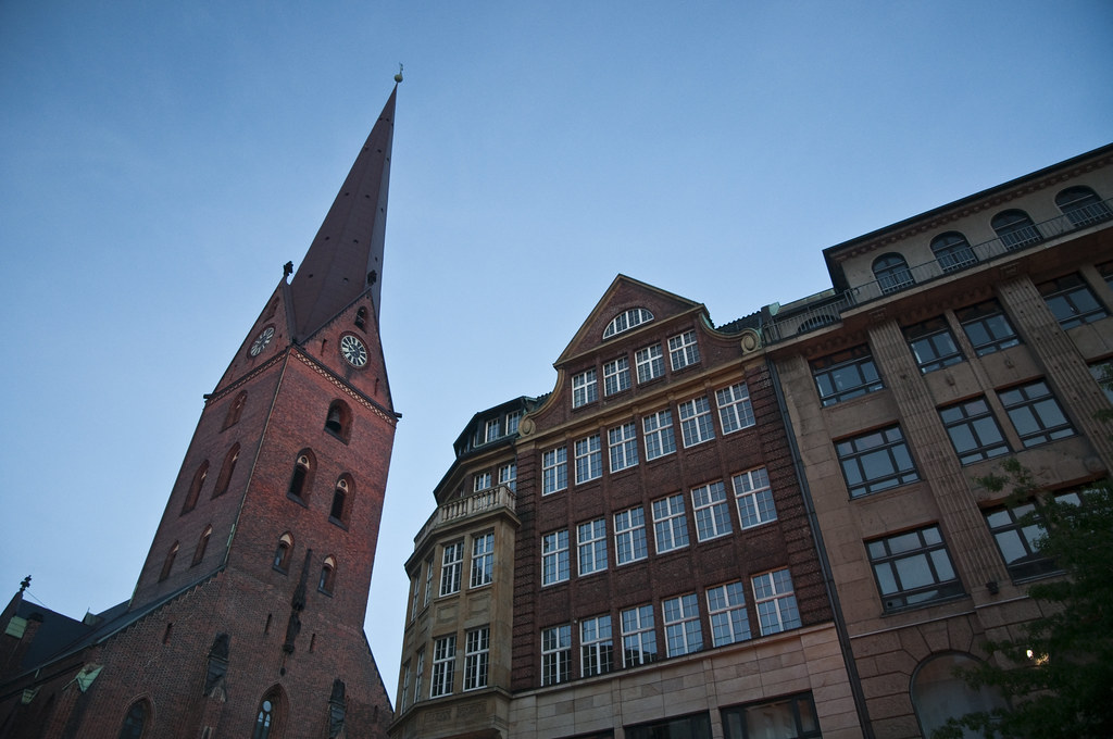 Buildings lining Monckerbergstrasse