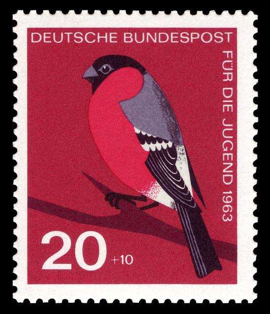 German robin postage stamp