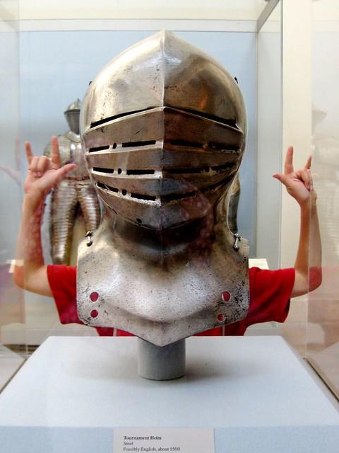 Medieval helmet at the Metropolitan Museum of Art