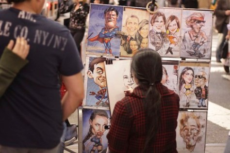Caricature artist, Times Square