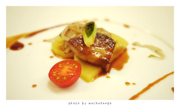 法國鵝肝與蕃紅花香染蘿蔔