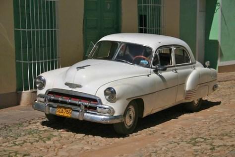 An old American car, Trinidad, Cuba