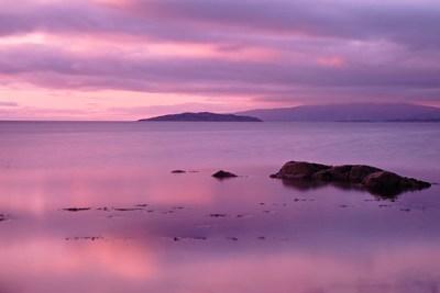 Purple Sunset on Isle of Skye