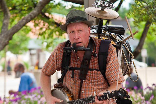 Joe Jangles One Man Band Street Performer Ann Arbor Art