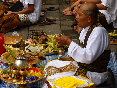 Performing his ceremony