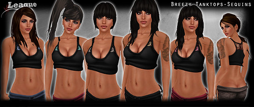*League* Breezy TankTops -Sequins