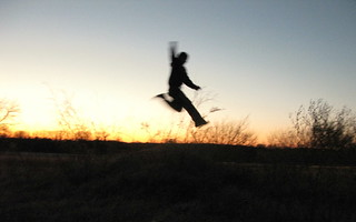 Jump at Sunset