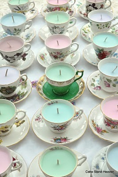Vintage Scented Teacup Candles