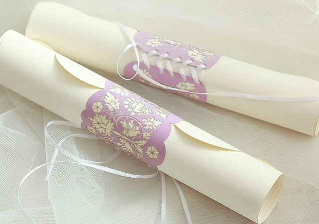 Wedding invitation-scroll