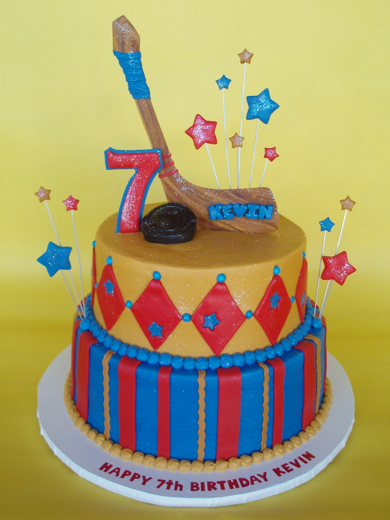Hockey Themed Birthday Cake Flickr Photo Sharing