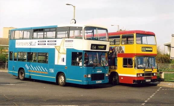 Arriva livery replaces MRN livery, Cannock 2000