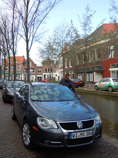 You have to be really careful when parallel parking on a canal!