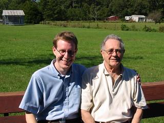 glenn and me on al's farm