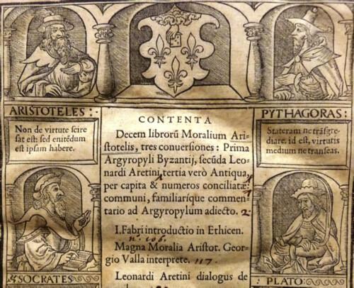 Woodcut title-page border of Simon de Colines