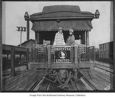 Great Northern Oriental Limited observation car, Seattle, ca. 1925