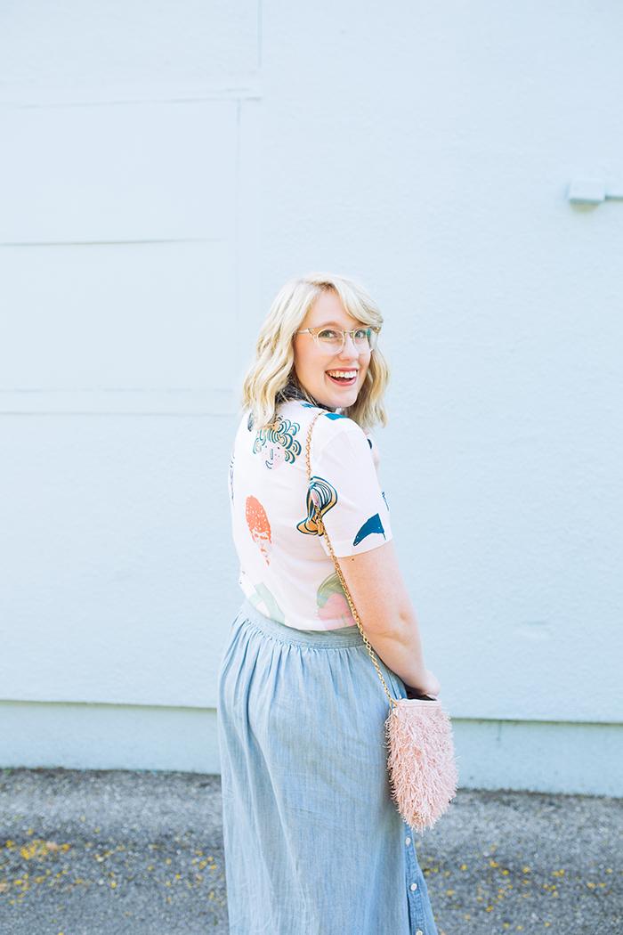 austin style blogger writes like a girl chambray madewell midi skirt12