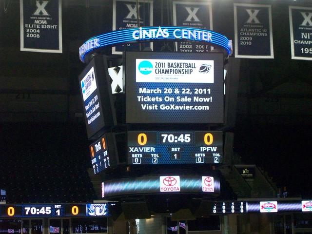 Cintas Center - new scoreboard
