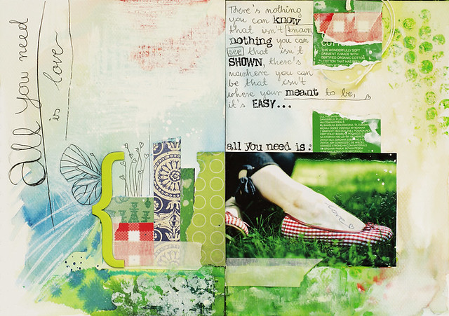 art journal :: all you need is lOvE