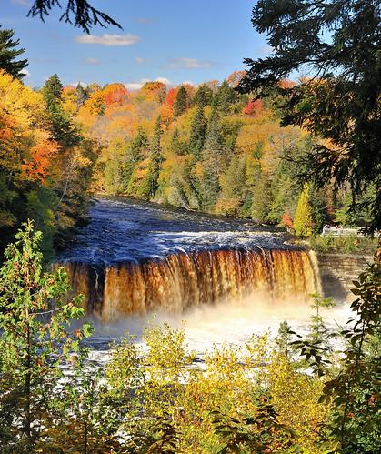 """The Rushing Tahquamenaw""   Tahquamenon Falls, Upper Michigan (explore # 258 Oct. 9, 2010)"