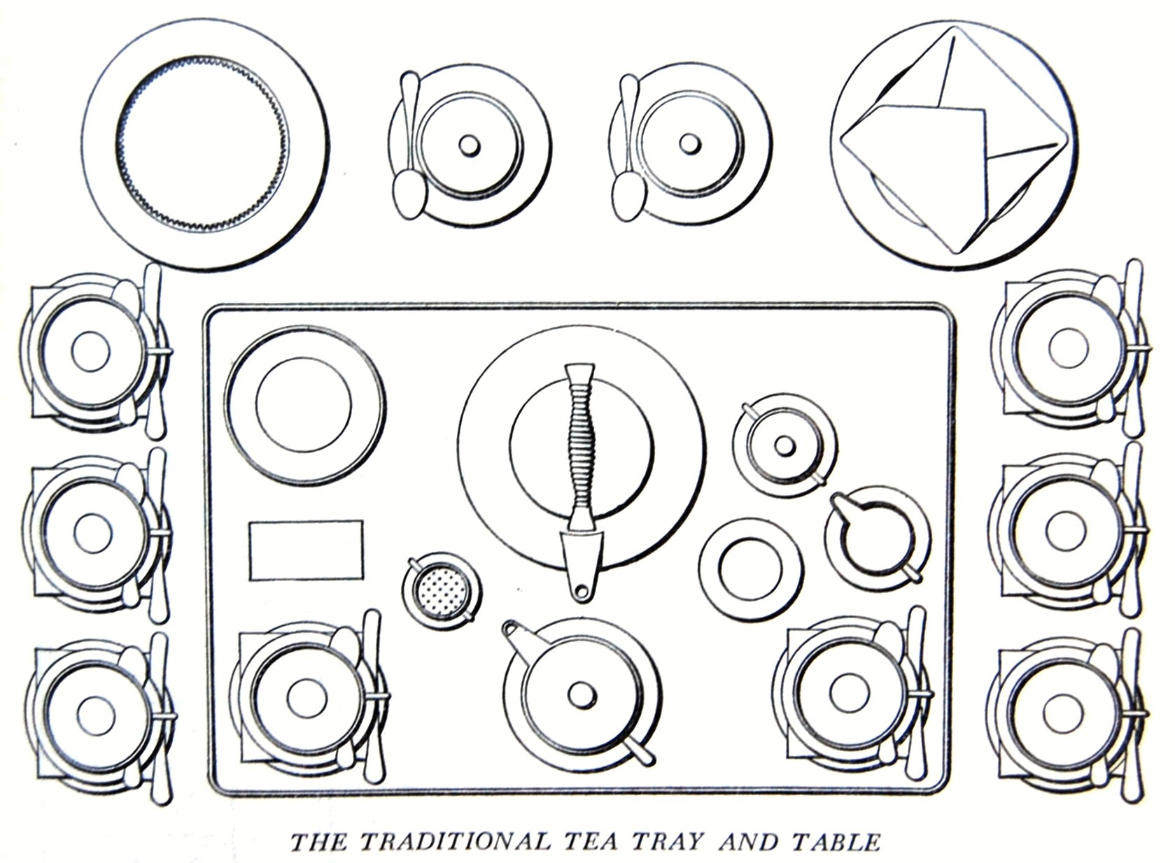 The Traditional Tea Tray And Table