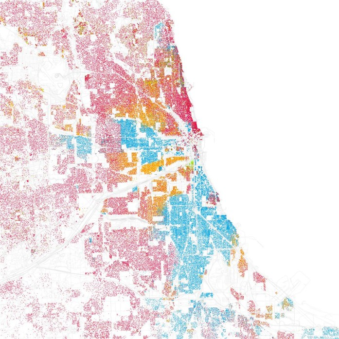 Oak Park Chicago Map.Striking Segregation In Dot Density Maps Oak Park Regional