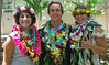 School of Ocean and Earth Science and Technology geology  and geophysics graduates, from left, Bianca Mintz, Samuel Clairmont and Hannah Azouz at  UH Manoa's spring 2017 commencement ceremony at the Stan Sheriff Center on Saturday, May 13, 2017.