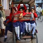 India - Uttar Pradesh - Mathura - School Rickshaw 2.