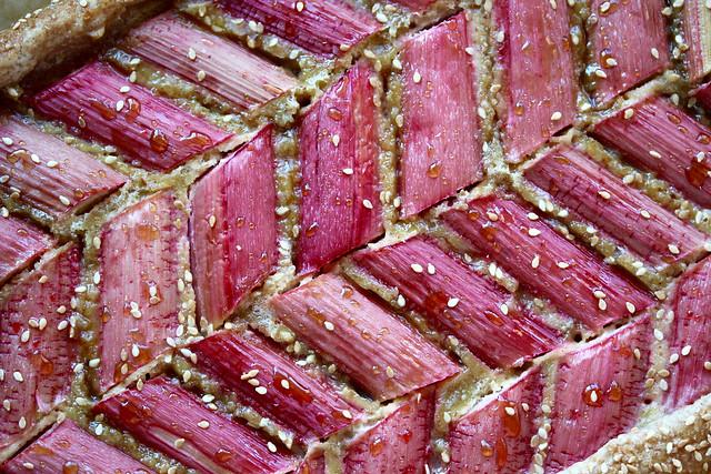 Rye Rhubarb Tahini Tart - 49