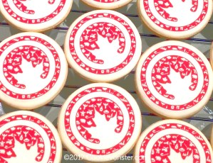 "2.75"" edible printed image logo cookies"