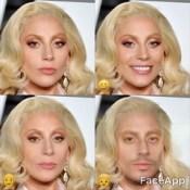 Lady Gaga - faceapp