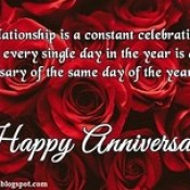 Anniversary Wishes for Girlfriend, Happy Anniversary Quotes for Facebook, WhatsApp Picture SMS.