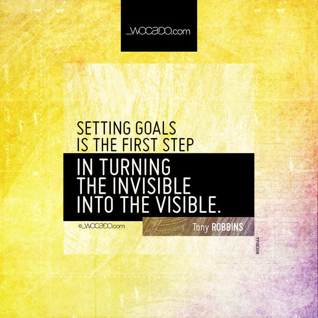 Setting goals is the first step by WOCADO.com