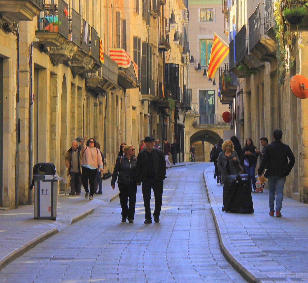 Catalan flags in Girona