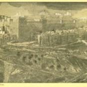"""Phillip Medhurst presents 397/740 James Tissot Bible c 1900 Reconstruction of the Temple of Herod southeast corner from """"La Vie de Notre Seigneur Jésus Christ"""
