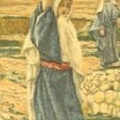 "Phillip Medhurst presents 406/740 James Tissot Bible c 1900 The Holy Virgin in her youth from ""La Vie de Notre Seigneur Jésus Christ"