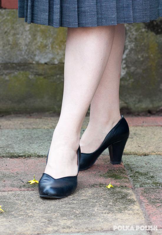 Royal Vintage Shoes Marilyn pumps in black leather