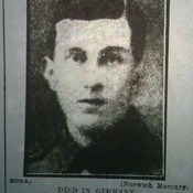 Pte A H  Dale 1st Suffolks Died in Germany 1915