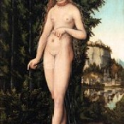 Венера, стоящая на фоне пейзажа, 1529.
