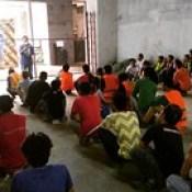 Umagang kay Ganda pero Toolbox meeting muna! 😊  #SafetyAlwaysFirst  #BuhaySafety.