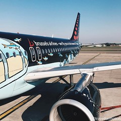 Ready for a new #adventure #great to fly a #beautiful #plane #brusselsairlines #brusselsairport #airplane #landscape #blue #spring #sky #vsco #vscocam #wanderlust #travel #travelgram #belgium #tintin #wing #travelphotography