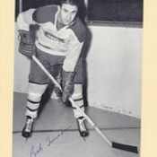 1944-63 NHL Beehive Hockey Photo / Group II - BOB TURNER (Defence) (b. 31 Jan 1934 - d. 7 Feb 2005 at age 71) - Autographed Hockey Card (Montreal Canadiens) (#292)