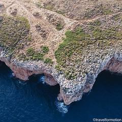 Spot the #caves #ocean #aerialphotography #landview vs #waves @algarvetourism #featuremealgarve #algarve #portugal #travel #travelgram #photooftheday #guardiantravelsnaps #igportugal #instatravel #visitportugal #traveling #travelphotography #bush #cliffs